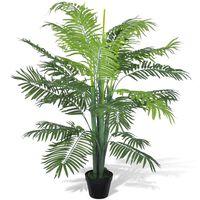 vidaXL Palma Fenice Artificiale con Vaso 130 cm
