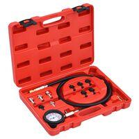 vidaXL Kit Tester per la Pressione dell'Olio 12 pz