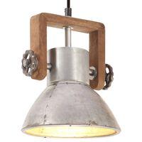 vidaXL Lampada a Sospensione Industriale 25 W Argento Rotonda 19cm E27