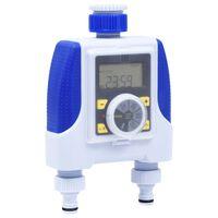 vidaXL Timer Irrigazione Elettronico a Doppia Uscita Ritardo Pioggia