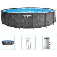 Intex Set Piscina Greywood Prism Frame Premium 457x122 cm