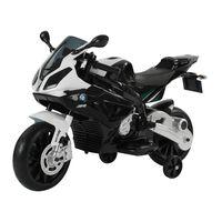 Homcom Moto Elettrica BMW RR per Bambini 12V, Nero e Bianco
