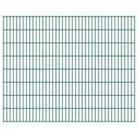 vidaXL 2D Pannelli Recinzione Giardino 2,008x1,63 m 36m (Totale) Verde