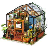 Robotime Kit in Miniatura Fai da Te Cathy's Flower House con Luce LED