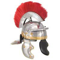 vidaXL Elmo da Soldato Antico Romano per LARP in Acciaio Argento