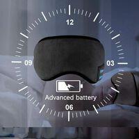 Maschera per dormire con cuffie integrate Bluetooth 5.0 - nero