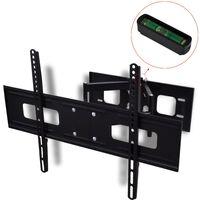 vidaXL Supporto TV 3D a Muro Inclinabile Girevole Doppio 600x400 mm