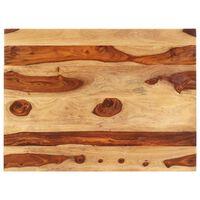 vidaXL Piano Tavolo in Legno Massello di Sheesham 25-27 mm 60x80 cm