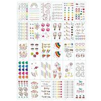 Sfregamento - tatuaggi per bambini 30 fogli con motivi colorati
