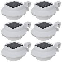 Esterno Lampada solare Set 6 pezzi Recinzione luce bianca