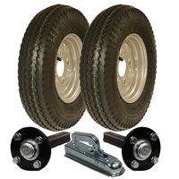 Kit rimorchio ad alta velocità 4.80 / 4.00 - 8 ruote omologate per
