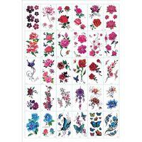 Sfregamento - tatuaggi temporanei 30 fogli di fiori