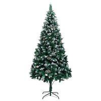 vidaXL Albero di Natale Artificiale con Pigne e Neve Bianca 240 cm