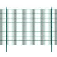 vidaXL Pannello di recinzione 2D giardino con paletti 2008x1630 mm 12m verde