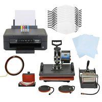 Kit Per Sublimazione Pressa A Caldo - 5 In 1 & Stampante A Cartucce &