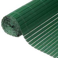 Nature Recinzione da Giardino a Doppio Lato in PVC 1,5x3m Verde