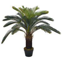 vidaXL Palma di Cycas Artificiale con Vaso Verde 90 cm