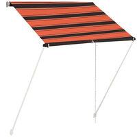 vidaXL Tenda da Sole Retrattile 150x150 cm Arancione e Marrone
