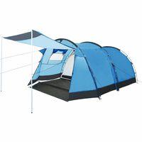 vidaXL Tenda da Campeggio a Tunnel per 4 Persone Blu