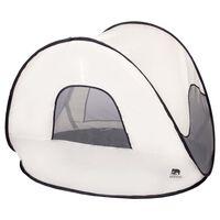 DERYAN Tenda da Spiaggia Pop-up con Zanzariera 120x90x80 cm Crema
