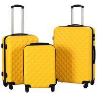 vidaXL Set Trolley a Custodia Rigida 3 pz Giallo in ABS