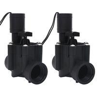 vidaXL Elettrovalvole per Irrigazione Acqua 2 pz AC 24 V