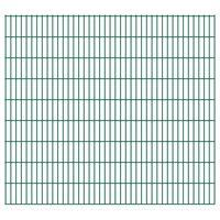 vidaXL 2D Pannelli Recinzione Giardino 2,008x1,83 m 42m (Totale) Verde