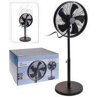 Excellent Electrics Ventilatore a Piantana 50 W 40 cm Nero