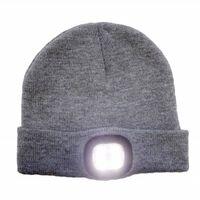 Cappello con luce LED ricaricabile - grigio