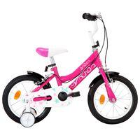 vidaXL Bici per Bambini 14 Pollici Nera e Rosa