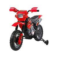 HomCom Moto Cross Elettrica per Bambini con Rotelle, Rosso