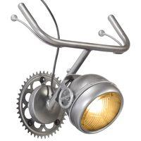 vidaXL Lampada da Parete Design Bicicletta in Ferro