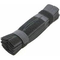 Cinturino In Velcro, Confezione Da 50, Nero