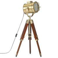 vidaXL Lampada a Treppiede a Pavimento Legno Massello di Mango 69 cm
