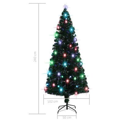vidaXL Albero di Natale Artificiale Supporto/LED 210 cm Fibra Ottica