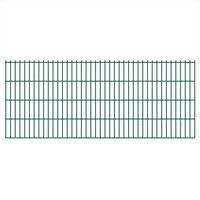 vidaXL 2D Pannelli Recinzione Giardino 2,008x0,83 m 30m (Totale) Verde
