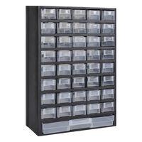 vidaXL Cassetta Porta Attrezzi in Plastica con 41 Cassetti
