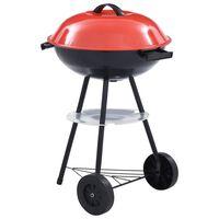 vidaXL Barbecue a Carbone Kettle Portatile XXL con Ruote 44 cm