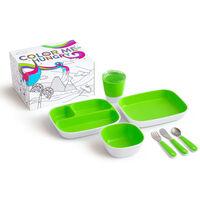 Munchkin Set da Tavola 7 pz Color Me Hungry Verde