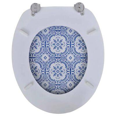 Coperchio da Toilette in MDF con Modello Porcellana