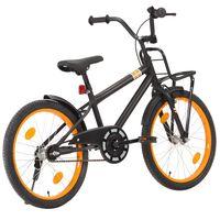 vidaXL Bici per Bambini con Trasportino Frontale 20'' Nero e Arancione
