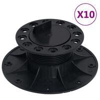 vidaXL Piedini Regolabili per Decking 10 pz 60-88 mm