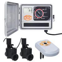 vidaXL Regolatore Irrigazione con Sensore Umidità e Elettrovalvola