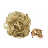 Scrunchie con capelli sintetici - marrone chiaro