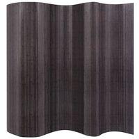 vidaXL Divisorio per Stanza in Bambù Grigio 250x165 cm