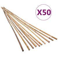 vidaXL Pali di Bambù da Giardino 50 pz 150 cm
