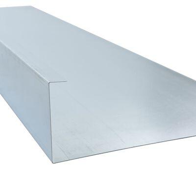 vidaXL Piastre di Recinzione per Lumache in Acciaio 150x7x25 cm 0,7 mm