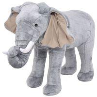vidaXL Elefante di Peluche Giocattolo Grigio XXL