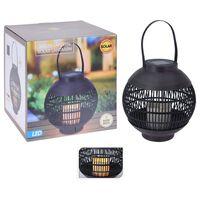 ProGarden Lanterna Solare a LED in Rattan con Candela Nera