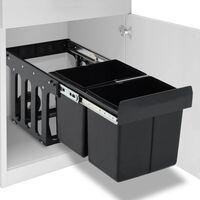 vidaXL Pattumiera Estraibile per Mobile Cucina Eco 36 L Soft-Close